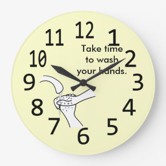 Take time to wash your hands wall clock