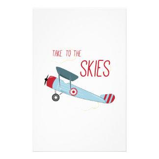 Take to the Skies Custom Stationery