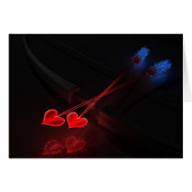cupid, arrow, valentinues, bow, hearts, Card with custom graphic design