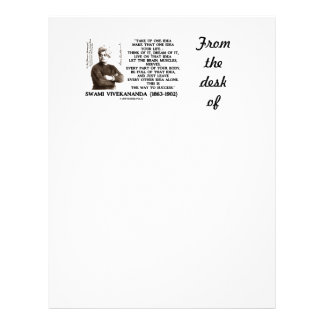 Take Up One Idea Make That Idea Your Life Quote Letterhead