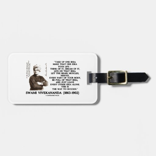 Take Up One Idea Make That Idea Your Life Quote Bag Tag