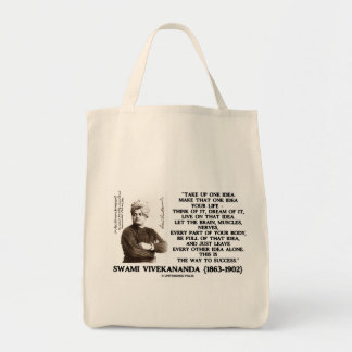 Take Up One Idea Make That Idea Your Life Quote Tote Bag