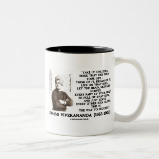 Take Up One Idea Make That Idea Your Life Quote Two-Tone Coffee Mug