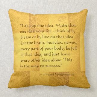 Take Up One Idea Swami Vivekananda Success Quote Throw Pillow