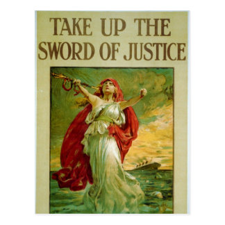 Take Up the Sword of Justice by Bernard Partridge Postcard