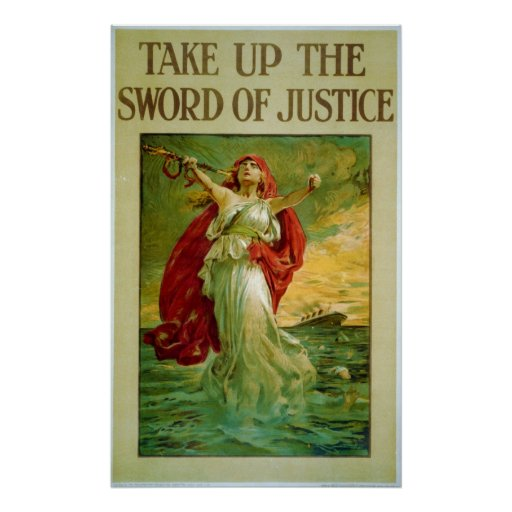 Take Up the Sword of Justice by Bernard Partridge Poster