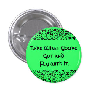 Take What You've Got and Fly with It. Button