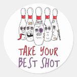 Take Your Best Shot Classic Round Sticker