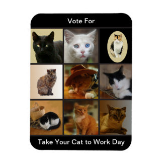 Take Your Cat to Work Day Magnet
