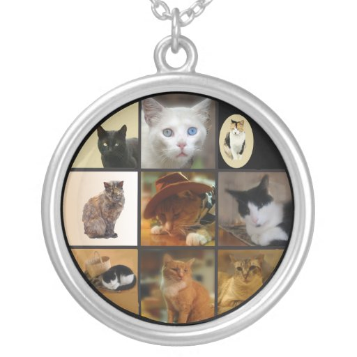 Take Your Cat to Work Day Round Pendant Necklace
