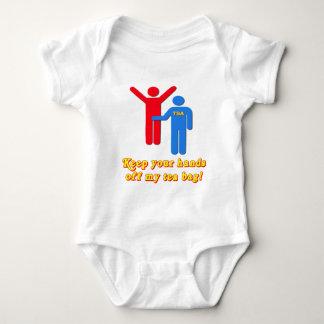 Take Your Hands Off My Tea Bag TSA Airport Baby Bodysuit