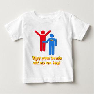 Take Your Hands Off My Tea Bag TSA Airport Baby T-Shirt