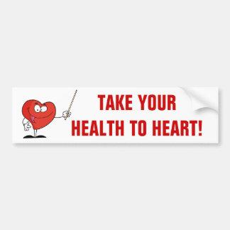 Take Your Health to Heart Bumper Sticker