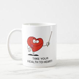 Take Your Health to Heart Classic White Coffee Mug