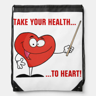 Take Your Health to Heart Drawstring Backpack