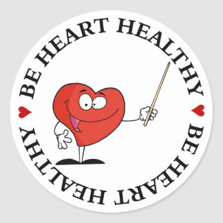 Take Your Health to Heart Stickers