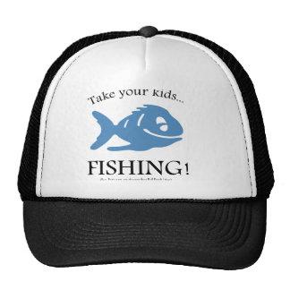 Take your Kids fishing! Mesh Hats