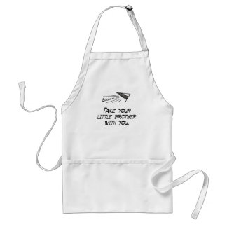 Take your little brother adult apron
