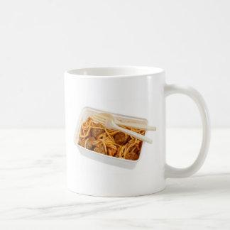 Takeaway meatball spaghetti coffee mug