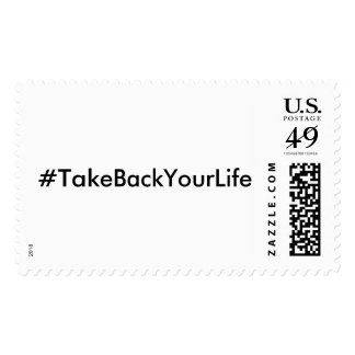 #TakeBackYourLife (Customizable Text & Color) Postage