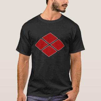 Takeda Clan Mon - Red/White Trim T-Shirt