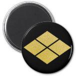 Takeda Mon (black & gold) Refrigerator Magnets
