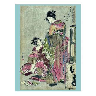 Takej del oiyo del ogie de Omando por Kitagawa, Postales