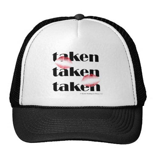 """Taken """"Black"""" by Stylish Weddings & Things, LLC Trucker Hat"""