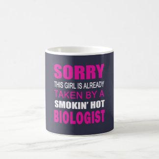 TAKEN BY A BIOLOGIST COFFEE MUG