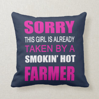 Taken By A Farmer Throw Pillow