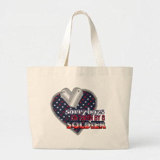 Taken by a Soldier Large Tote Bag
