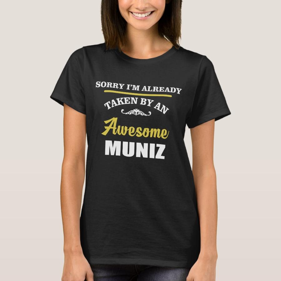 Taken By An Awesome MUNIZ. Gift Birthday T-Shirt - Casual Long-Sleeve Street Fashion Shirts