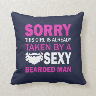 Taken By Sexy Bearded Man Throw Pillow