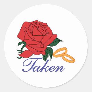 Taken Classic Round Sticker