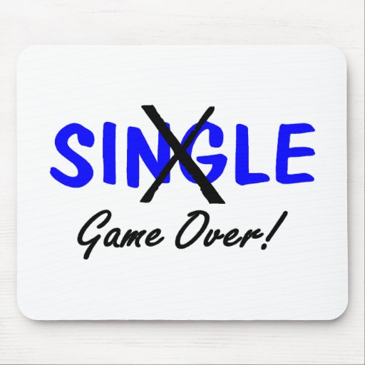 Taken (Game Over Blue) Mousepad