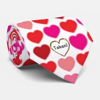 Taken Valentine Heart Men's Tie