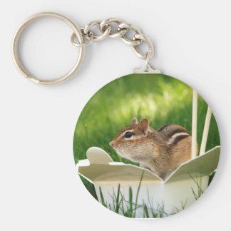 Takeout Loving Chipmunk Keychain