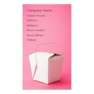 Takeout Profile Card - Two-sided Business Card
