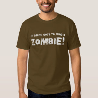 Takes Guts Zombie T-shirt - Romero Style Dead Tee