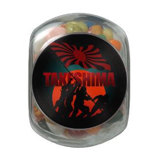 TAKESHIMA recapture Glass Candy Jar