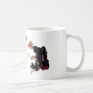 Takeuchi 栖 鳳 gamecock fighting chicken chicken chi coffee mug