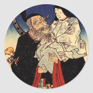 Takeuchi and the infant emperor classic round sticker