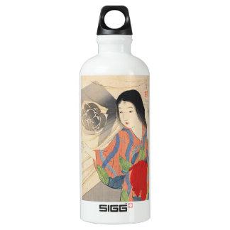 Takeuchi Keishu Tora Gozen japanese vintage lady Aluminum Water Bottle