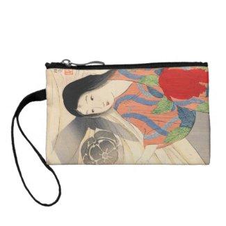 Takeuchi Keishu Tora Gozen japanese vintage lady Change Purses