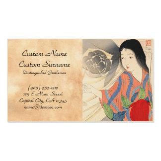Takeuchi Keishu Tora Gozen japanese vintage lady Business Card