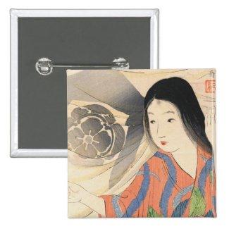 Takeuchi Keishu Tora Gozen japanese vintage lady Pin