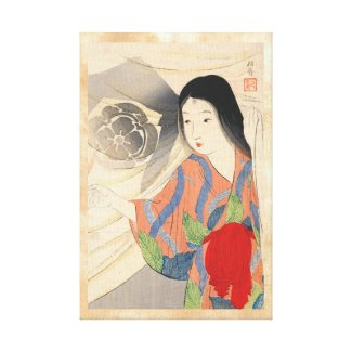 Takeuchi Keishu Tora Gozen japanese vintage lady Canvas Print