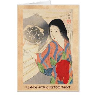 Takeuchi Keishu Tora Gozen japanese vintage lady Card