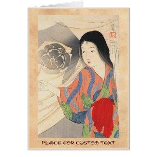 Takeuchi Keishu Tora Gozen japanese vintage lady Cards