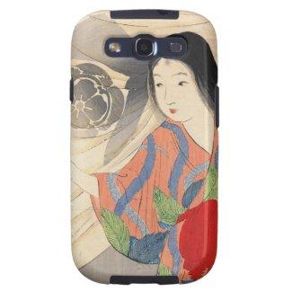 Takeuchi Keishu Tora Gozen japanese vintage lady Samsung Galaxy SIII Cases